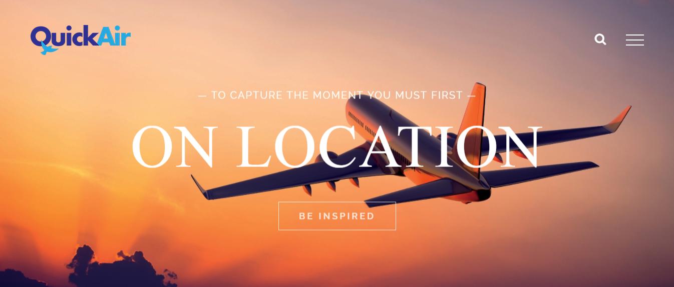 Уеб сайт на фирма Quick Air